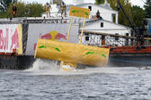 Flugtag competition in Riga — Stock Photo