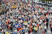 Corredores de maratona mini — Fotografia Stock