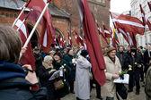 Conmemoración de la unidad de letona waffen ss — Foto de Stock