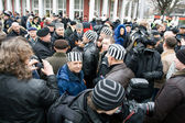 Protestors of Commemoration of the Latvian Waffen SS — Stock Photo