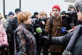 Interview with EP Deputy Tatjana Zdanoka — Stock Photo