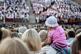 Audience of Song and dance festival concert in Riga — Stock Photo