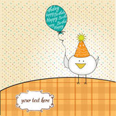 Greeting card with chicken — Stock Photo