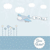 Beautiful background with a toy airplane — 图库照片