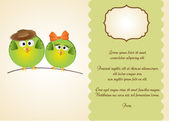 Greeting card with birds — Stock Photo