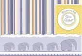 Cartão com elefantes — Foto Stock