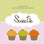 Happy birthday cupcakes — Stock Photo