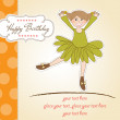 Sweet Girl Birthday Greeting Card — Stock Photo