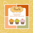 Happy Birthday cupcakes - Foto de Stock  