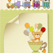 Baby shower card with cute teddy bear — Stock Photo #7202001