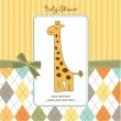 Greeting card with giraffe — Stock Photo #7202042