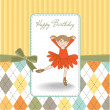 Stock Photo: Sweet Girl Birthday Greeting Card