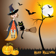 Halloween witch background - Stok fotoraf