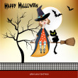 Halloween witch background - Stock Photo