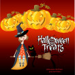 Halloween witch background - Foto Stock
