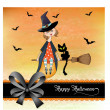 Halloween witch background - Stock fotografie