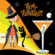 Halloween witch background - Stok fotoğraf
