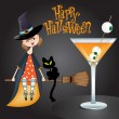 Halloween witch background - Zdjęcie stockowe