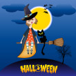 Halloween witch background — Stockfoto