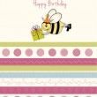 Greeting card with bee — Stock Photo #7202502