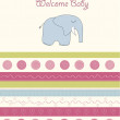 Greeting card with elephant — Stock Photo #7202507