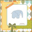 Baby shower invitation with elephant — Foto Stock