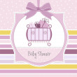 Baby girl shower invitation — Stock Photo #7203415