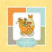 Greeting card with teddy bear — Stock Photo