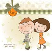 Coppia di amanti felici — Foto Stock