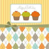 Cupcakes di buon compleanno — Foto Stock