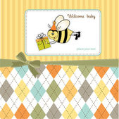Greeting card with bee. — Stock Photo