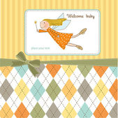 Card with little fairy — Stock Photo