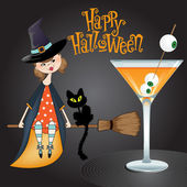 Halloween witch background — Stock Photo