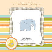 Greeting card with elephant — Stock Photo