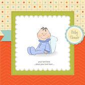 Cartão com menino — Foto Stock