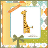 Greeting card with giraffe — Stock Photo