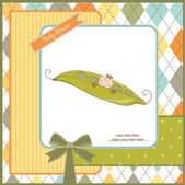 Baby shower invitation with bea baby — Stock Photo