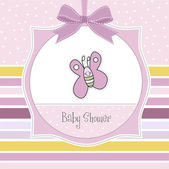 Baby shower invitation with butterfly — Stock Photo