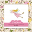Baby shower invitation with fairy — Stock Photo