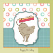 Greeting card with cat — Lizenzfreies Foto