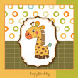 Birthday card with giraffe — Stock Photo #7827472