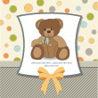 Welcome baby card with teddy bear — Stock Photo #7827762