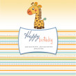 Birthday card with giraffe — Stock Photo #7828126
