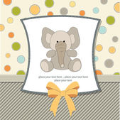Delicate greeting card with elephant — Stock Photo