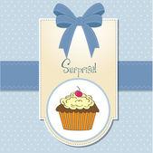 Geburtstag cupcake — Stockfoto