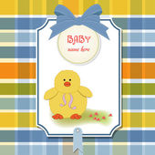 New baby card with little duck — Stock Photo