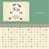 Fun greeting card with cow — Stock Photo