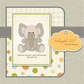 Welcome baby card with elephant — Stock Photo