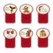 Christmas labels set — Stock Photo