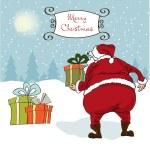 Santa coming, Christmas greeting card — Stock Photo #7868194